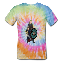 Load image into Gallery viewer, Unisex Tie Dye T-Shirt valkyrie - rainbow