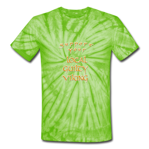Unisex Tie Dye T-Shirt supporter shirt - spider lime green