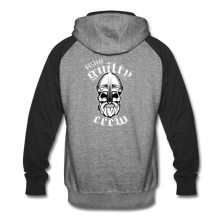 Load image into Gallery viewer, Colorblock Hoodie viking skull - heather gray/black