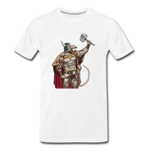 Load image into Gallery viewer, tgc Home Gym Guilty Viking Rat Men's Premium T-Shirt - white