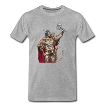 Load image into Gallery viewer, tgc Home Gym Guilty Viking Rat Men's Premium T-Shirt - heather gray