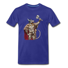 Load image into Gallery viewer, tgc Home Gym Guilty Viking Rat Men's Premium T-Shirt - royal blue