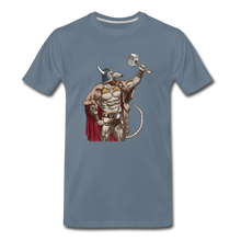 Load image into Gallery viewer, tgc Home Gym Guilty Viking Rat Men's Premium T-Shirt - steel blue