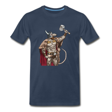 Load image into Gallery viewer, tgc Home Gym Guilty Viking Rat Men's Premium T-Shirt - navy