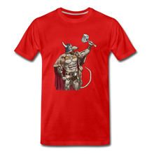 Load image into Gallery viewer, tgc Home Gym Guilty Viking Rat Men's Premium T-Shirt - red