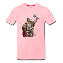 Load image into Gallery viewer, tgc Home Gym Guilty Viking Rat Men's Premium T-Shirt - pink