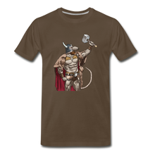Load image into Gallery viewer, tgc Home Gym Guilty Viking Rat Men's Premium T-Shirt - noble brown