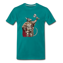 Load image into Gallery viewer, tgc Home Gym Guilty Viking Rat Men's Premium T-Shirt - teal