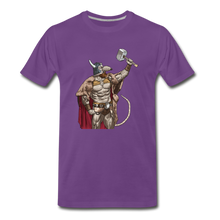 Load image into Gallery viewer, tgc Home Gym Guilty Viking Rat Men's Premium T-Shirt - purple