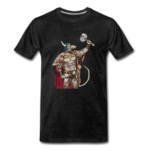 Load image into Gallery viewer, tgc Home Gym Guilty Viking Rat Men's Premium T-Shirt - charcoal gray