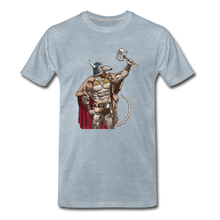 Load image into Gallery viewer, tgc Home Gym Guilty Viking Rat Men's Premium T-Shirt - heather ice blue