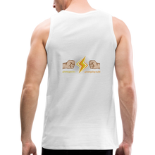 Load image into Gallery viewer, tgc Home Gym Guilty Viking Rat  Men's Premium Tank - white