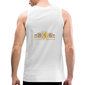 tgc Home Gym Guilty Viking Rat  Men's Premium Tank - white