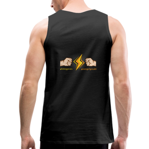 tgc Home Gym Guilty Viking Rat  Men's Premium Tank - black