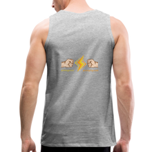 Load image into Gallery viewer, tgc Home Gym Guilty Viking Rat  Men's Premium Tank - heather gray