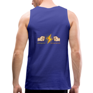 tgc Home Gym Guilty Viking Rat  Men's Premium Tank - royal blue