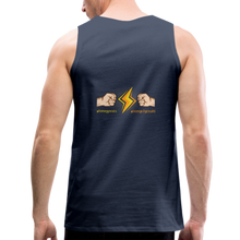 Load image into Gallery viewer, tgc Home Gym Guilty Viking Rat  Men's Premium Tank - navy