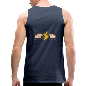 tgc Home Gym Guilty Viking Rat  Men's Premium Tank - navy