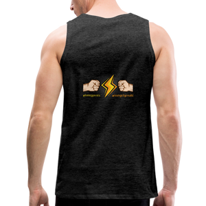 tgc Home Gym Guilty Viking Rat  Men's Premium Tank - charcoal gray