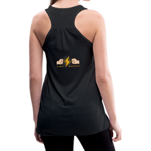 Load image into Gallery viewer, tgc Home Gym Guilty Viking Rat woman Flowy Tank Top by Bella - black