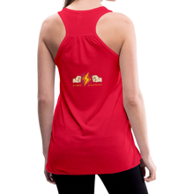 Load image into Gallery viewer, tgc Home Gym Guilty Viking Rat woman Flowy Tank Top by Bella - red