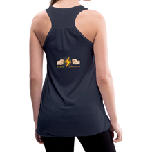 Load image into Gallery viewer, tgc Home Gym Guilty Viking Rat woman Flowy Tank Top by Bella - navy