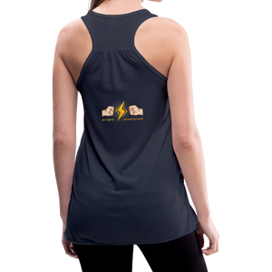 tgc Home Gym Guilty Viking Rat woman Flowy Tank Top by Bella - navy
