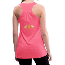 Load image into Gallery viewer, tgc Home Gym Guilty Viking Rat woman Flowy Tank Top by Bella - neon pink