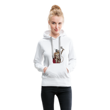Load image into Gallery viewer, tgc Home Gym Guilty Viking Rat Women's Premium Hoodie - white