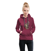 Load image into Gallery viewer, tgc Home Gym Guilty Viking Rat Women's Premium Hoodie - burgundy