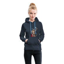 Load image into Gallery viewer, tgc Home Gym Guilty Viking Rat Women's Premium Hoodie - navy