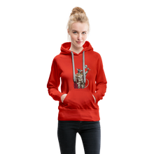 Load image into Gallery viewer, tgc Home Gym Guilty Viking Rat Women's Premium Hoodie - red