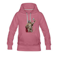 Load image into Gallery viewer, tgc Home Gym Guilty Viking Rat Women's Premium Hoodie - mauve