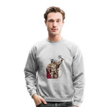 Load image into Gallery viewer, Home Gym Guilty Viking Rat Crewneck Sweatshirt - heather gray