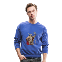 Load image into Gallery viewer, Home Gym Guilty Viking Rat Crewneck Sweatshirt - royal blue