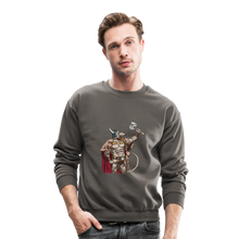 Load image into Gallery viewer, Home Gym Guilty Viking Rat Crewneck Sweatshirt - asphalt gray