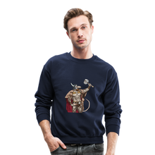 Load image into Gallery viewer, Home Gym Guilty Viking Rat Crewneck Sweatshirt - navy