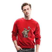 Load image into Gallery viewer, Home Gym Guilty Viking Rat Crewneck Sweatshirt - red