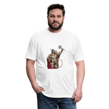 Load image into Gallery viewer, Home Gym Guilty Viking Rat Fitted Cotton/Poly T-Shirt by Next Level - white