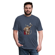 Load image into Gallery viewer, Home Gym Guilty Viking Rat Fitted Cotton/Poly T-Shirt by Next Level - heather navy