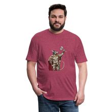 Load image into Gallery viewer, Home Gym Guilty Viking Rat Fitted Cotton/Poly T-Shirt by Next Level - heather burgundy