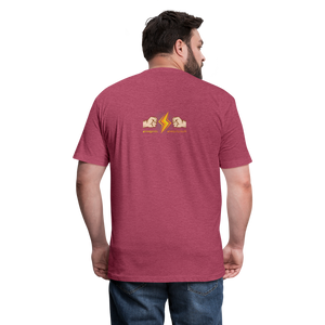 Home Gym Guilty Viking Rat Fitted Cotton/Poly T-Shirt by Next Level - heather burgundy