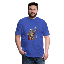 Load image into Gallery viewer, Home Gym Guilty Viking Rat Fitted Cotton/Poly T-Shirt by Next Level - heather royal