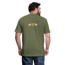Load image into Gallery viewer, Home Gym Guilty Viking Rat Fitted Cotton/Poly T-Shirt by Next Level - heather military green