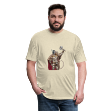 Load image into Gallery viewer, Home Gym Guilty Viking Rat Fitted Cotton/Poly T-Shirt by Next Level - heather cream