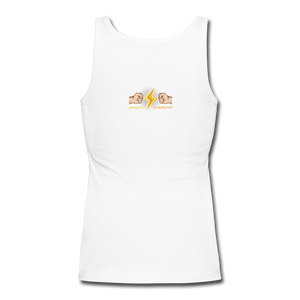 Home Gym Guilty Viking Rat  Women's Longer Length Fitted Tank - white