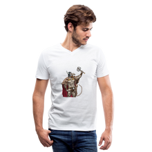 Load image into Gallery viewer, Home Gym Guilty Viking Rat Men's V-Neck T-Shirt - white