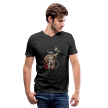 Load image into Gallery viewer, Home Gym Guilty Viking Rat Men's V-Neck T-Shirt - black