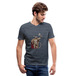 Home Gym Guilty Viking Rat Men's V-Neck T-Shirt - heather navy