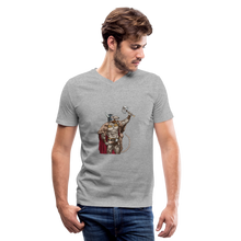 Load image into Gallery viewer, Home Gym Guilty Viking Rat Men's V-Neck T-Shirt - heather gray